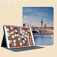 新しい IPad mini1/2/3 ケース おしゃれ 手帳型 横開き スマートカバー チェック 切り替え IPad mini3 指紋防止 [オート スリープ/スリー プ解除]パリ、フランスのアレクサンドル3世橋と彫刻像都市