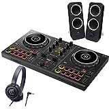 PIONEER DJ スマートDJコントローラー DDJ-200 + ヘッドホン ATH-S100 + スピーカー Z200 セット ステッカー付き