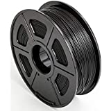 CC DIY PLA 3D Printer Filament Dimensional Accuracy +/- 0.02 mm 1kg Spool 1.75 mm Suits Most 3D Printers Tevo Tarantuala CR10 Mendel Prusa and More, Also Suitable for Most 3D pens (Black)