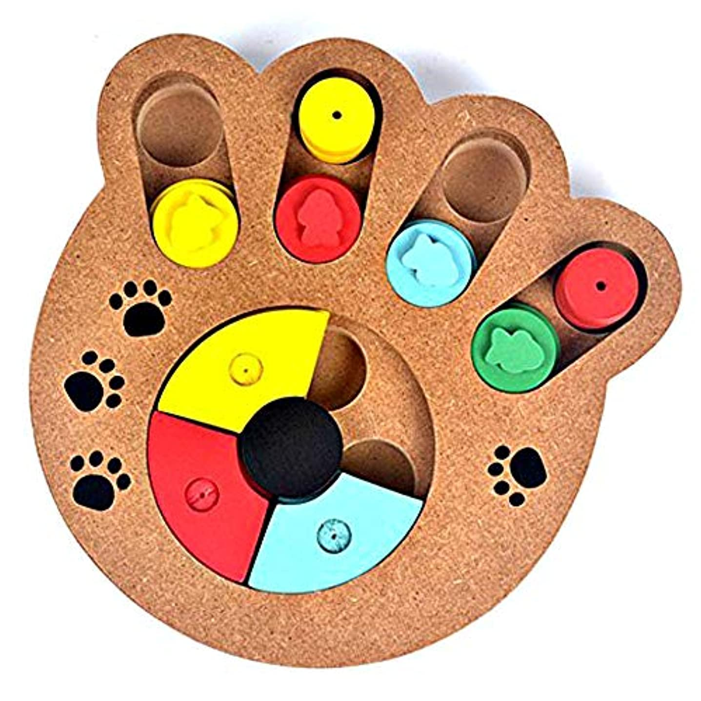 ペット用 餌入れ 知育玩具 (手型) 犬 猫 兼用