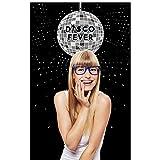 Bigドットの幸せの70のディスコ – 1970s Disco Feverパーティー写真ブース背景 – 36