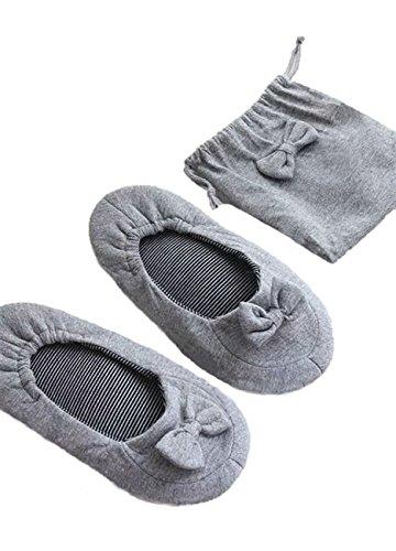 [해외]비둘기 휴대 슬리퍼 여성용 실 접는 수업 참관 여행 학교 ?袋있는 리본 레이스/Odamaki mobile slippers for women indoor folding classes visit travel school ribbon race with bags