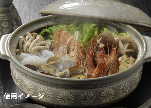 萬古焼 銀峯 土鍋 (深鍋) 7号 1-2人用 花三島 21071