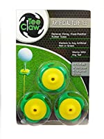 (Yellow/Green) - Tee Claw Golf Training Aid Kit, Artificial Turf Tee Holder and Training Aid