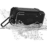 Zosam Portable Bluetooth V4.2 Wireless Speaker, HiFi 10W Rich Bass, IPX6 Waterproof &Anti-Drop Outdoor HD Stereo Speaker with Built-in Mic and AUX/SD Input for Shower, Beach, Party, Travel