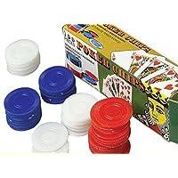 100プラスチックPoker Chips – レッドホワイトブルー