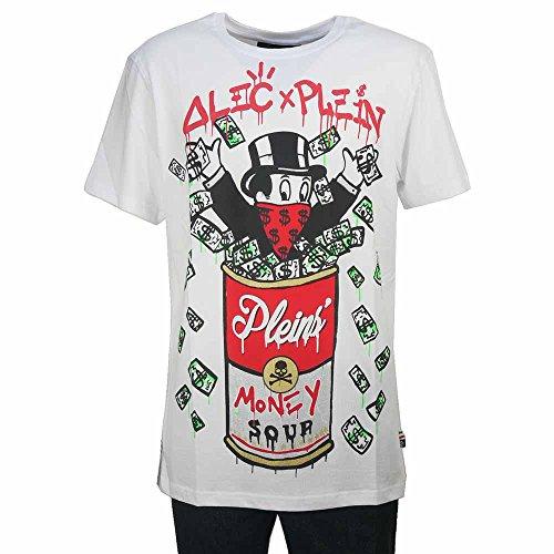 (フィリッププレイン) PHILIPP PLEIN 半袖Tシャツ アレック・モノポリー コラボ NEW SOUP MTK1963-PJY002N-01 ホワイト×レッド S 【並行輸入品】