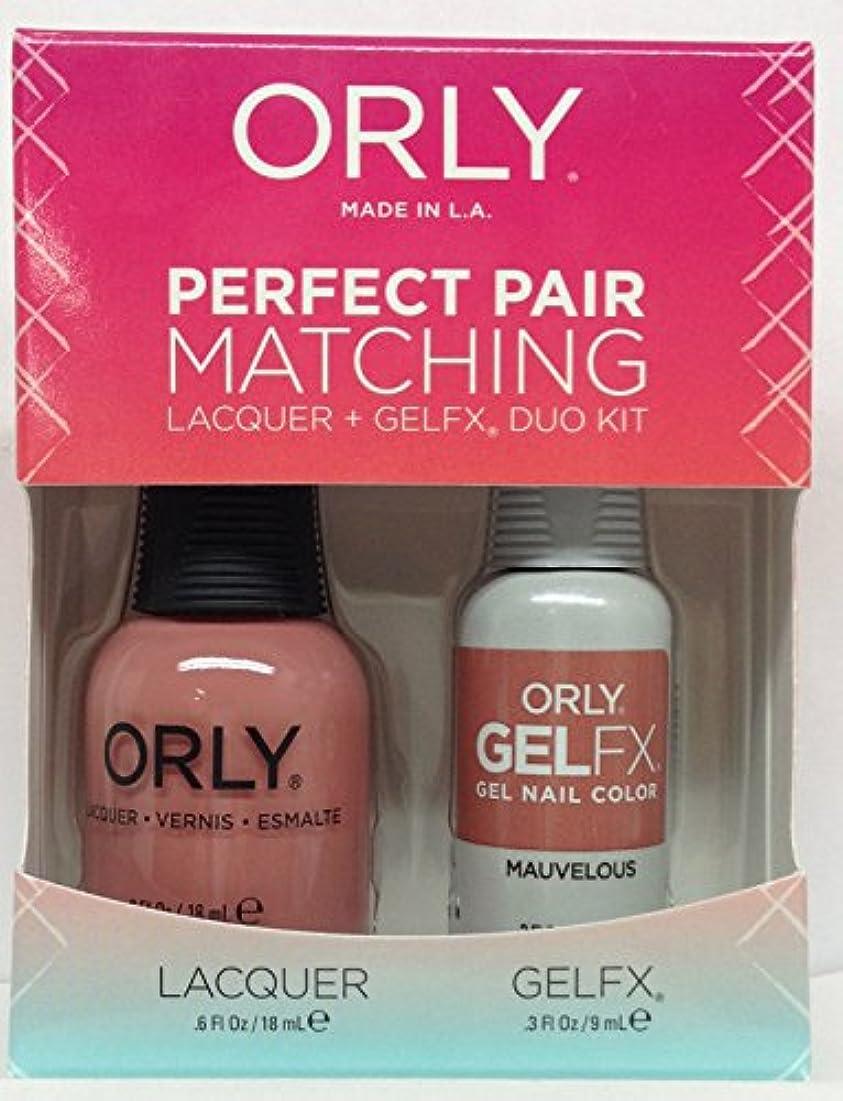 パイプライン帝国主義チャールズキージングOrly - Perfect Pair Matching Lacquer+GelFX Kit - Mauvelous - 0.6 oz/0.3 oz