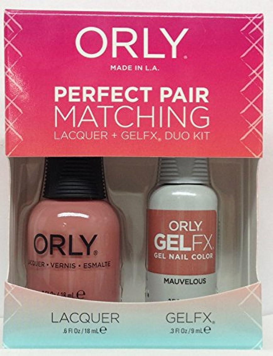 ユーモラス彼女波紋Orly - Perfect Pair Matching Lacquer+GelFX Kit - Mauvelous - 0.6 oz/0.3 oz