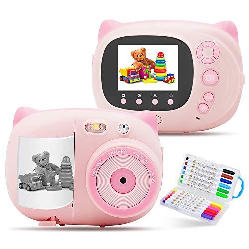 インスタントカメラ 携帯 デジ子供カメラ キッズカメラ WiFi搭載 1500万画素 USB充電トイカメラ子供用 2.4インチディスプレイ画面 フォト用紙210枚付き高性能 可愛い 誕生日 男女兼用