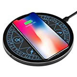 OLAHO ワイヤレス充電器 魔法陣充電器 置くだけ充電 急速充電 5W 7.5W 10W iPhone 11 11 Pro 11 Pro Max XS MAX XR XS X 8, Galaxy Note 10 Note 10 Plus S10 S10 Plus S10Eに対応 無線 充電器 魔法 ワイヤレスチャージャー
