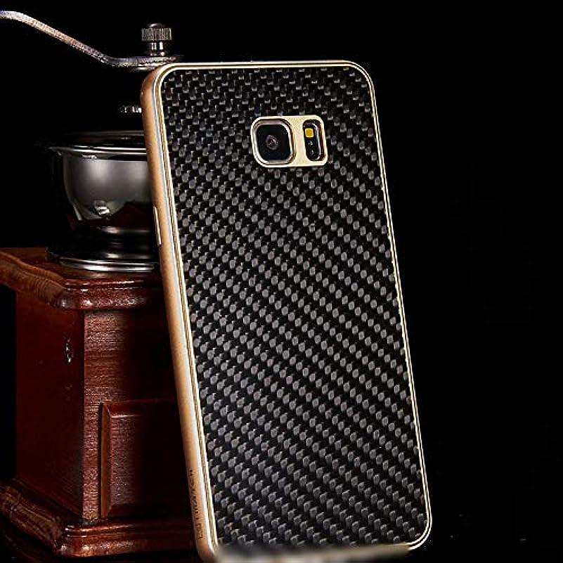 血統白い感情Tonglilili 携帯電話ケース、カーボンファイバー携帯電話ケースメタルシェル新しい保護カバー電話ケースサムスンS6エッジ、S6エッジプラス、S7エッジ、S7、S7エッジ、S8、S8プラス注5、注8 (Color : 黒, Edition : S7)