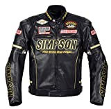 シンプソン(SIMPSON) バイクジャケット プレミアムPUレザー(Premium PU Leather)ジャケット ゴールド M SJ-7119PRM