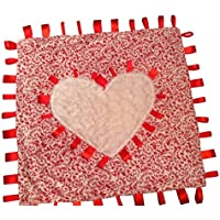 Warm & Fuzzy ~ Heart with Ribbon Tabs ~ Baby Blanket by Abuela Chachy's