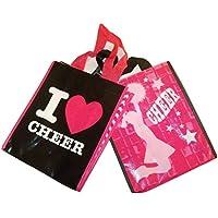 Michaels Goチームスポーツテーマ2トートバッグ~ I Love Cheer ;応援onピンク10