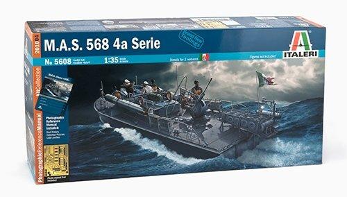 タミヤ イタレリ 1/35 魚雷艇シリーズ 5608 イタリア 海軍魚雷艇 M.A.S クルー6体 / アクセサリー付き 38608