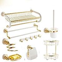 バスルームタオルラック、アルミニウム合金パンチフリーラック、バスルーム装飾、マルチサイズ、マルチスタイルオプション (色 : V)