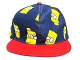 The Simpsons(ザ シンプソンズ)スナップバックキャップ(デニム×レッド)アンダーバイザーロゴ入り