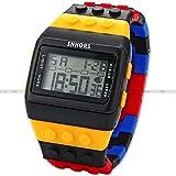 【 ユニセックス 】8 色 レゴ 風 デジタル 腕 時計 可愛い 人気 カラフル ウォッチ ブロック (カラーVer4)