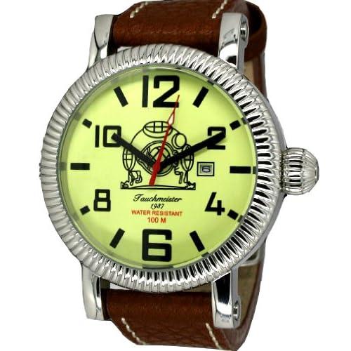 [トーチマイスター1937]Tauchmeister1937 腕時計 ドイツ製2戦ドイツ軍用復刻 大型49mm T0198(並行輸入品)