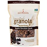 Erin Baker's Homestyle Granola, Double Chocolate, Gluten-Free, Ancient Grains, Non-GMO, Cereal, 12-ounce bags (Pack of 6)