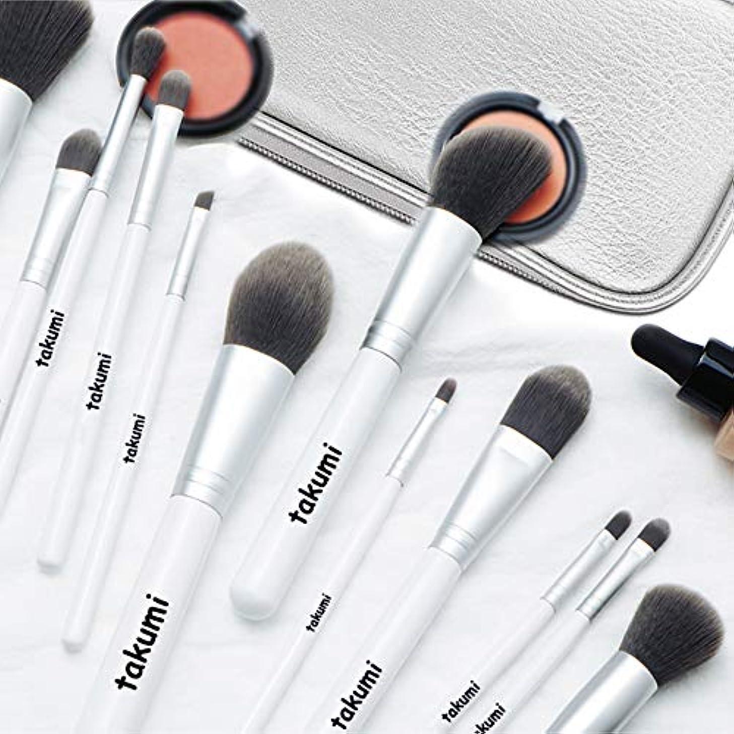 建築アルミニウムバタフライメイクブラシ12本セット 超柔らかい 化粧筆 ブラシ 専用化粧ポーチ付き 携帯便利