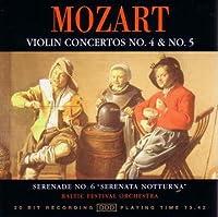 Mozart: Violin Concertos 4 & 5