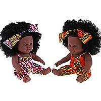 FLAMEER 人形衣装アクセサリー 30cmリボーンドール アメリカ赤ちゃん人形 新生児少女ドール 2個 2カラー - #1