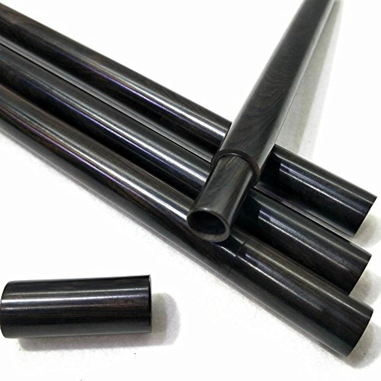 エチケットホット放棄する黑檀モッコウ筒棒香瀋香収納管 10g線香管