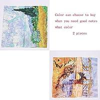 GAODUZI 新しいスカーフ大きなシルクスカーフ野生のシルクショールワイルドな秋と冬のシルクの首輪 ( 色 : E )