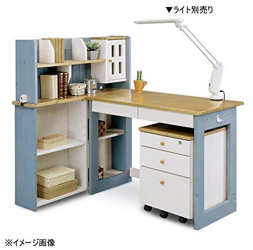 大川家具 関家具 学習デスク 素材/パイン材 ブルー 215768