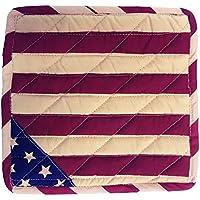 アメリカンフラッグ カントリー USA なべ敷き 20cm × 20cm 綿100% 洗える