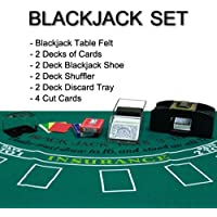 Complete All - in - OneホームスタイルブラックジャックBlackjackセット – Play at Home 。