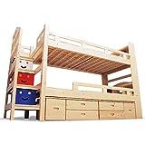 【耐荷重 500kg・階段式】二段ベッド マークエックス-ART 安心 安全 階段付き 2段ベッド LED照明 チェスト2個付き エコ塗装
