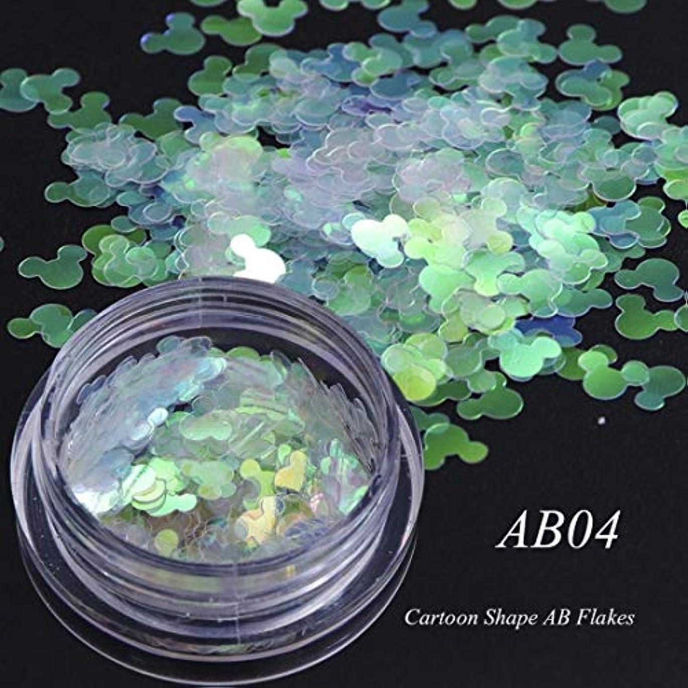 ずるい悲観的床手足ビューティーケア 3個のカメレオンカラースパンコールネイルアートグリッターフレークUVジェル装飾ツール(AB01) (色 : AB04)