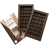 CHOCOLOT Classic 2 Silicone Break-Apart Chocolate Bar Molds LFGB Grade Silicone BPA Free Oven Safe - 6.6 Fluid Ounce Capacity (2-Pack)