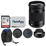 Sigma 18–300mm f / 3.5–6.3DCマクロOS HSM Contemporaryレンズfor Nikon F ( 886306) + 32GBメモリカード+レンズポーチ+ phot..