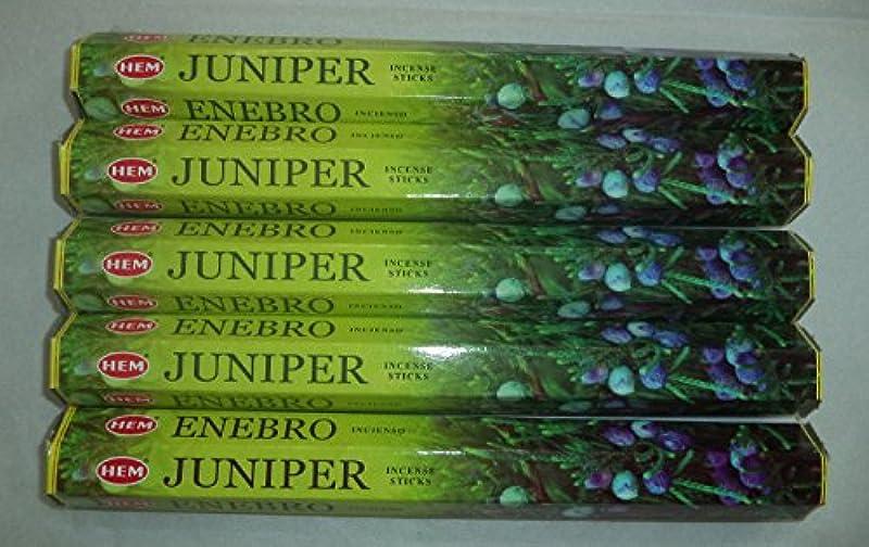 寮事前にカーペットHemジュニパー100 Incense Sticks (5 x 20スティックパック)