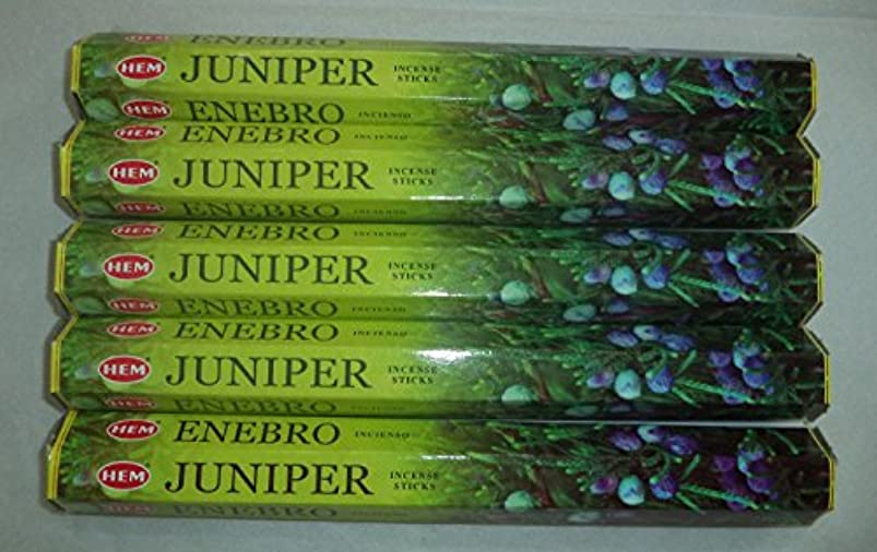 仮定する国民投票邪魔Hemジュニパー100 Incense Sticks (5 x 20スティックパック)