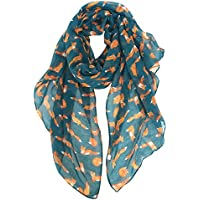 GERINLY Hedgehogs Printed Scarves Animals Pattern Womens Scarf