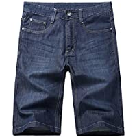Allonly Men's Fashion Casual Relaxed Fit Stretch Denim Jean Short Plus Size Big and Tall