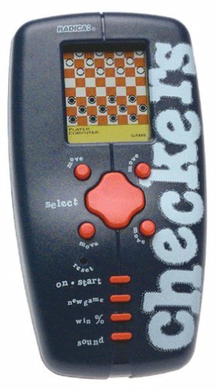 Trademark Global 10-4172010, Pocket travel electronic Checkers by Poker [並行輸入品]