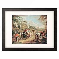 アントワーヌ・ヴァトー Antoine Watteau 「Soldaten auf dem Marsch (Soldiers on the March)」 額装アート作品