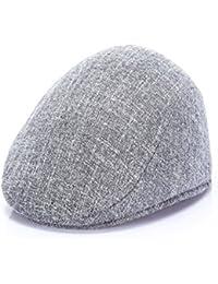 NUBAO 帽子中年キャップキャップ通気性前方キャップベレトレトロキャップバイザー (色 : Light grey)