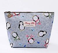 かわいい化粧品袋、かわいい動物柄化粧品袋、クリエイティブ防水コインケース、化粧品収納袋、旅行ウォッシュバッグ (Color : グレー, Size : L)