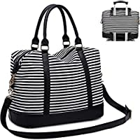 CAMTOP Women Ladies Weekender Travel Bag Canvas Overnight Carry-on Duffel Tote Luggage