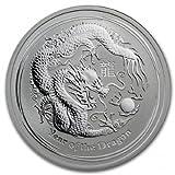 2012年 オーストラリア ドラゴン銀貨 1/2オンス