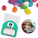 ラッピング袋 100枚セット プラスチック袋 テープ付き キャンディー袋 お菓子 OPP袋 クッキー チョコレート プレゼント 包装袋 小分け