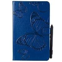 Samsung Galaxy Tab A 10.1 T580 Case, MrStar Samsung Galaxy Tab A 10.1 T580 表面 Folio Flip Cover フォンケース Slim Shell for Samsung Galaxy Tab A 10.1 T580 (Blue)