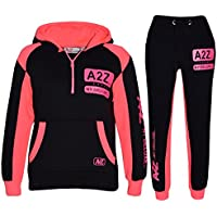 Kids Jogging Suit Boys Girls Designer's Tracksuit Zipped Top & Bottom 7-13 Years